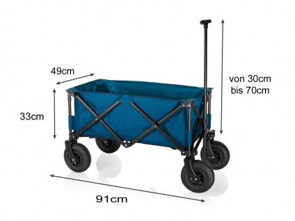 Faltbarer Klappbollerwagen mit Luftreifen für Kinder klappbarer Faltbollerwagen - Vorschau 3