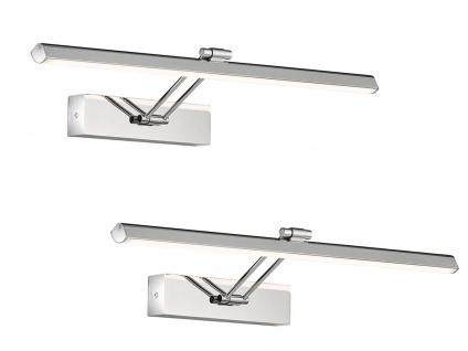 2er Set schwenkbare LED Badezimmerwandlampen Spiegelleuchte 60cm, Badbeleuchtung