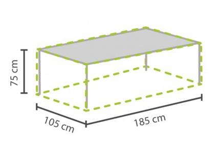 Abdeckung für Gartentische max. 180cm, Abdeckfolie Schutzhülle Plane wasserdicht