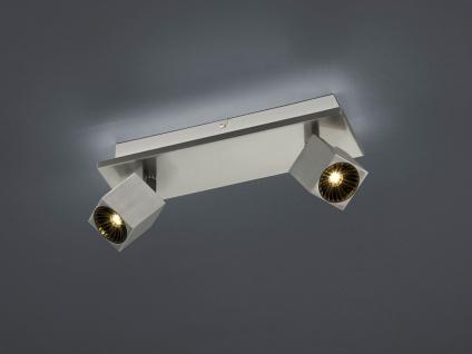 LED Deckenstrahler schwenkbar mit indirekter Beleuchtung in Nickel matt 30x8, 5cm