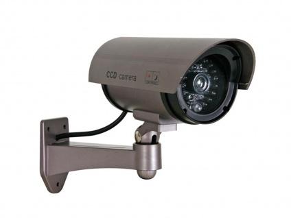 2er Set Kamera Attrappe, IR-LEDs & LED rot, Fake Dummy Innen Außen Überwachung - Vorschau 3