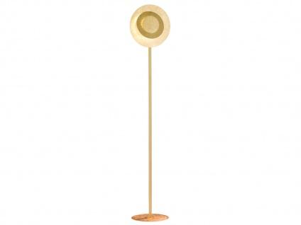 LED Stehleuchte Goldfarbig Höhe 150cm 12 Watt - exklusiv Design Wohnraumleuchten