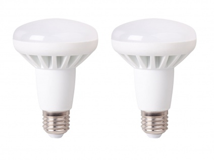 2er-Set LED Leuchtmittel 10W warmweiß, 650 Lumen, E27, 3000 Kelvin