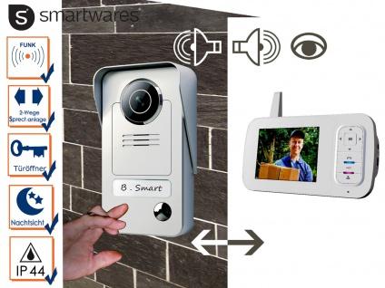 Drahtlos VIDEO Türsprechanlage mit Bildschirm, Haus Gegensprechanlage Türfunk