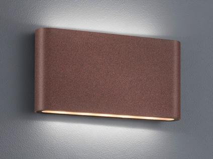 LED Außenwandlampe mit UP and DOWN Rostoptik Breite 17, 5cm - Hausbeleuchtung