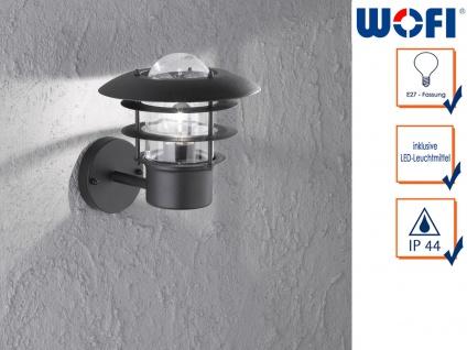 LED Wandleuchte / Außenleuchte in Edelstahl H. 24, 5cm LED Fassadenbeleuchtung