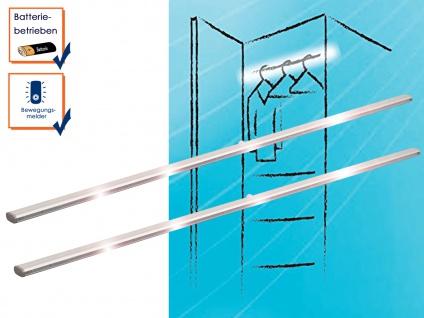 2er SET LED-Kleiderstangen mit Bewegungssensor, Lichtleiste Unterbeuleuchte