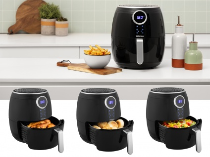 Digitale Heißluftfritteuse XXL Umluft Crispy Fryer ohne Öl, 4, 5 Ltr. 1500Watt - Vorschau 2