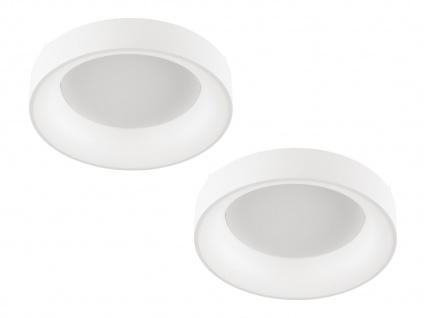 Runde LED Deckenlampen Lampenschirm weiß 2 Stk fürs Schlafzimmer Wohnzimmerlampe
