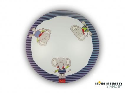 Deckenschale rund mit Elefant Lolo Lombardo Motiv Deckenleuchte Kinderzimmer