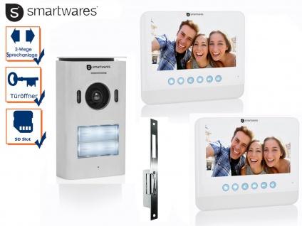 2 Familienhaus Videosprechanlage mit LCD Bildschirm + Türöffner für weite Türen