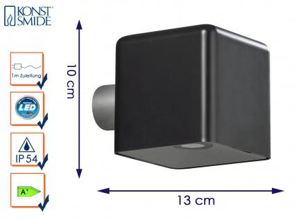 LED Außenwandleuchte AMALFI, schwarz, Wandleuchte Wandstrahler Wandspot