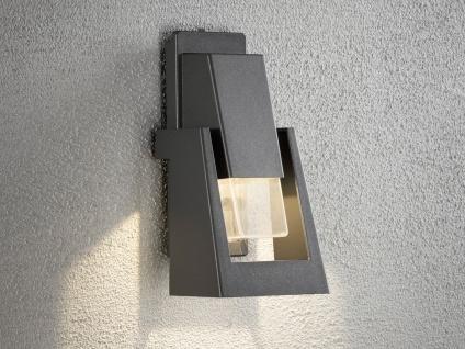 Dimmbare Außenwandleuchte POTENZA schwarz, 350Lm, austauschbares LED Modul