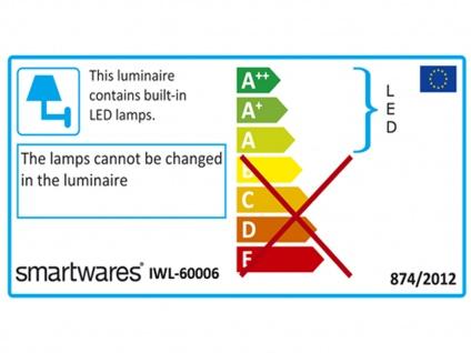 LED Spiegelleuchte fürs Badezimmer aus chromfarbigem & weißem Kunststoff, Rohr - Vorschau 4