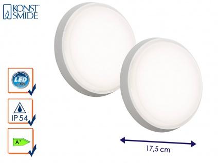 2er-Set LED Wandleuchten / Deckenleuchten CESENA weiß, 10W, 900 Lumen