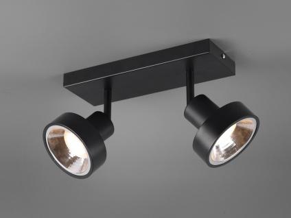 RETRO Deckenstrahler 2-flammig Schwarz Beleuchtung Flur, Diele und Treppenhaus