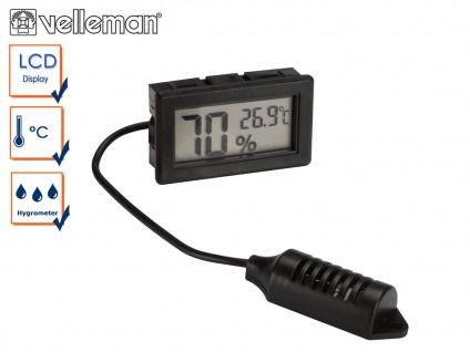 Digital Einbau Hygrometer und Thermometer, Luftfeuchtigkeit und Temperatur