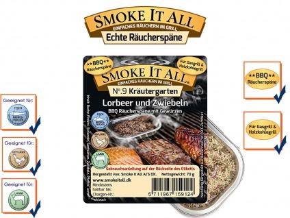 BBQ Räucherspäne Räuchermischung Räuchermehl m. Gewürzen 75g KRÄUTERGARTEN