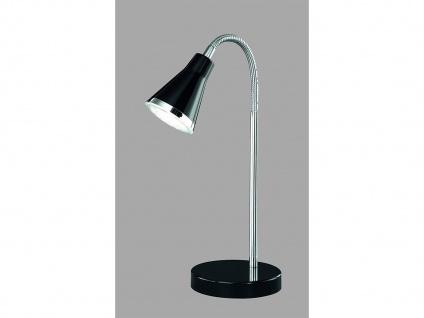 Schöne LED Tischleuchte mit Schirm in Schwarz Schreibtischlampe mit Flexarm