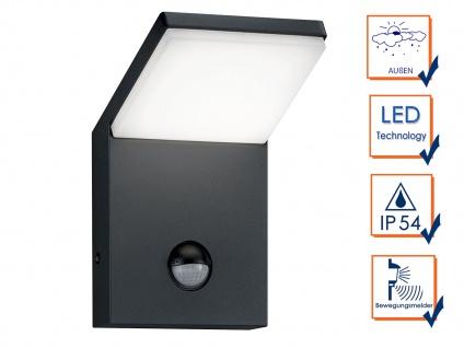LED Außenwandlampe mit Bewegungsmelder Anthrazit 2 Außenleuchten Hausbeleuchtung - Vorschau 3
