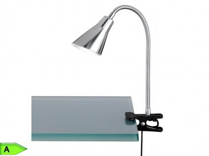 LED-Klemmlampe Nickel, 1 x 4, 2W SMD-LED, mit Schalter Trio-Leuchten