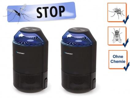 2er Set USB Insektenvernichter mit UV LED & Ansaugventilator, Wirkungskreis 50m²
