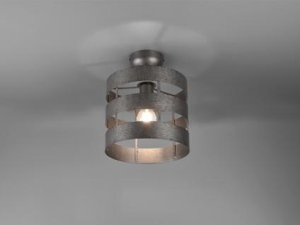 Kleine Deckenleuchte 1 Flammig mit Metallschirm in Silber Ø25cm - Küchenlampen