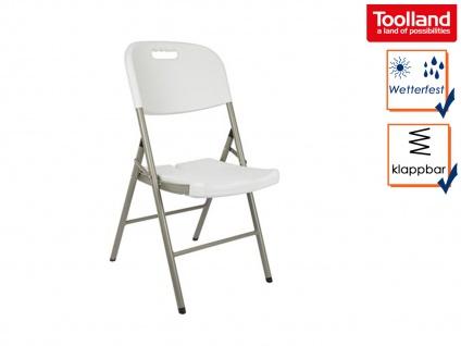 Klappstuhl weiß, Campingstühle klappbar, Balkonstühle , Gartenstühle - Vorschau 1