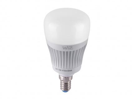 RGBW WiZ LED Leuchtmittel mit E14 Sockel 7 Watt, Sprachsteuerung & Fernbedienung - Vorschau 5