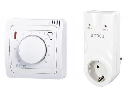 Set: Funkraumthermostat mit Funkempfänger Zwischensteckdose, Infrarotheizungen