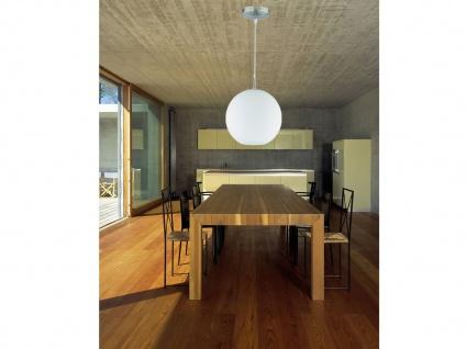 Runde Pendelleuchte dimmbar Ø30cm Opalglas in Weiß Hängeleuchte für Esszimmer