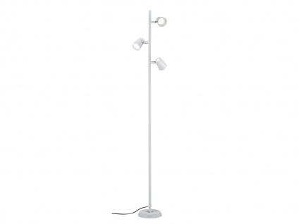 Schwenkbare LED Stehlampe Weiß matt mit Touch-Dimmer Höhe 154cm - Wohnzimmer