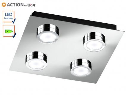 LED Deckenleuchte Deckenlampe, Chrom poliert, Action by Wofi