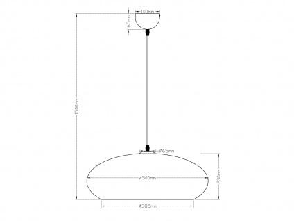 Retro LED Pendelleuchte Lampenschirm Metall in Gold Ø 50cm - edle Esstischlampen - Vorschau 4