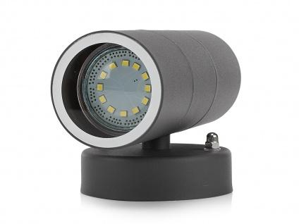 4er-Set Up-/Down Außenwandleuchten IP44, inkl. 2 x 3W LED 230 Lumen, GU10-Sockel - Vorschau 3