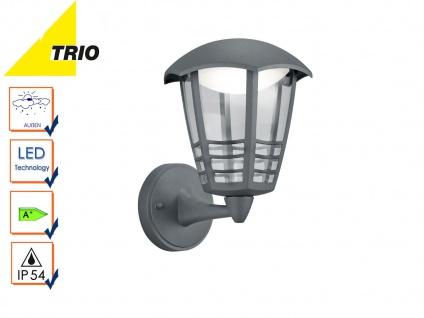 Trio LED Außenwandlampe Laterne ALMA anthrazit, Außenbeleuchtung Fassade IP54