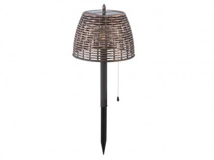 2er Set Vintage LED Solar Tischleuchten für Garten - Erdspieß Wegeleuchten Außen - Vorschau 4