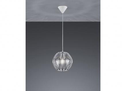 LED Hängeleuchte Kugel 1 flammig silber Ø23cm über Kücheninsel EsstischLAMPE