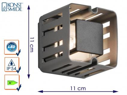 LED Außenwandleuchte PESCARA anthrazit Wandstrahler Wandleuchte 300 Lumen IP54