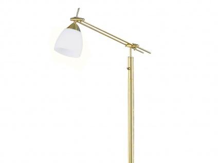 Stehleuchte E27, Schalter, H.: 165cm, Glas matt/Messing Trio-Leuchten