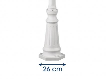 Wegeleuchte FIRENZE, E27, Aluminium weiß, inkl. Pfahl und Fundament - Vorschau 5