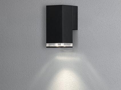 ALU Wandlampe für Außen & Innen DownLight IP44 Schwarz 16cm Fassadenbeleuchtung