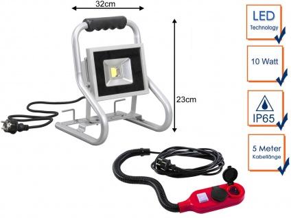 Tragbarer 20Watt LED Baustrahler mit Verlängerungskabel, Arbeitsleuchte Baulampe