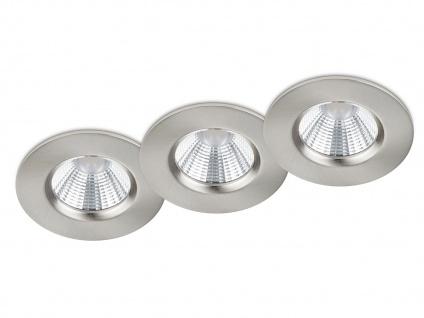 LED Einbaustrahler Spot Decke rund dimmbar Nickel matt 5, 5W - Deckenbeleuchtung
