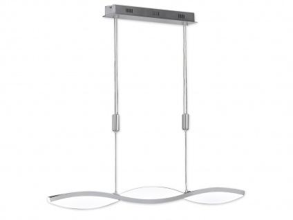 LED Pendelleuchte Nickel matt L. 110, 5cm dimmbar Wohnraumleuchten Design Lampe