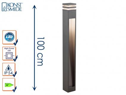Wegeleuchte MASSA anthrazit 8 Watt HP-LED 800 Lumen, IP54 Standleuchte