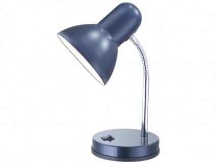 Moderne Flexible Tischlampe BASIC blau mit LED, Schreitischlampe Leselampe Büro
