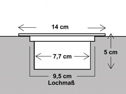 LED Solar Bodeneinbaustrahler, rund, gebürstetes Edelstahl IP67 RANEX - Vorschau 4