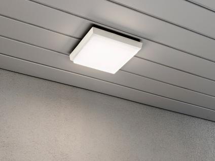 2er-Set LED Wandleuchten / Deckenleuchten CESENA eckig weiß, 10W, 900 Lm, IP54 - Vorschau 5
