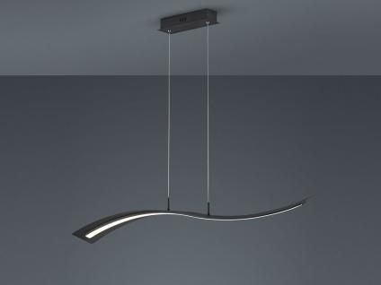 Geschwungene LED Hängelampe Design Wellenform Schwarz mit Switch Dimmer Funktion